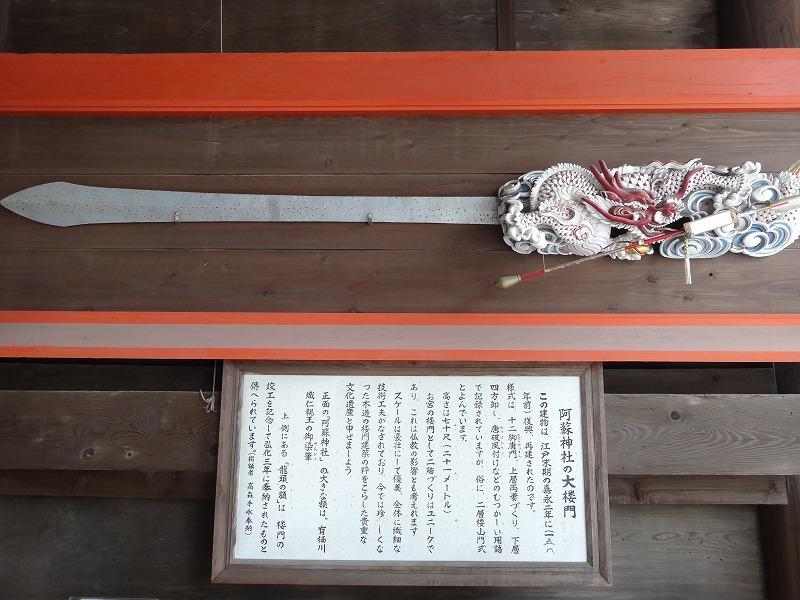 肥後一の宮 阿蘇神社_楼門にあった剣飾
