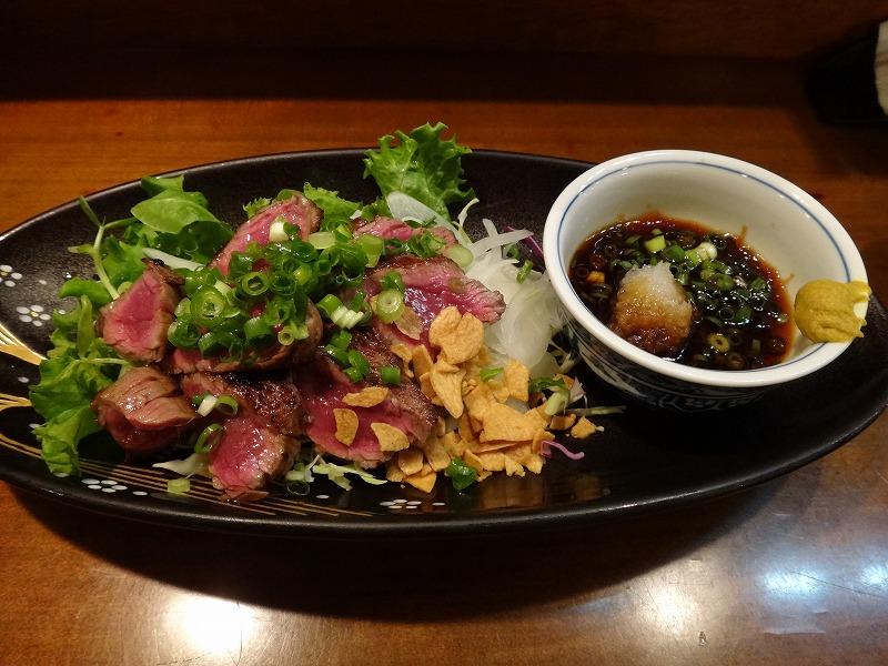 熊本の居酒屋で1・2を争う旨い馬刺し!馬肉料理むつ五郎_馬肉のタタキ