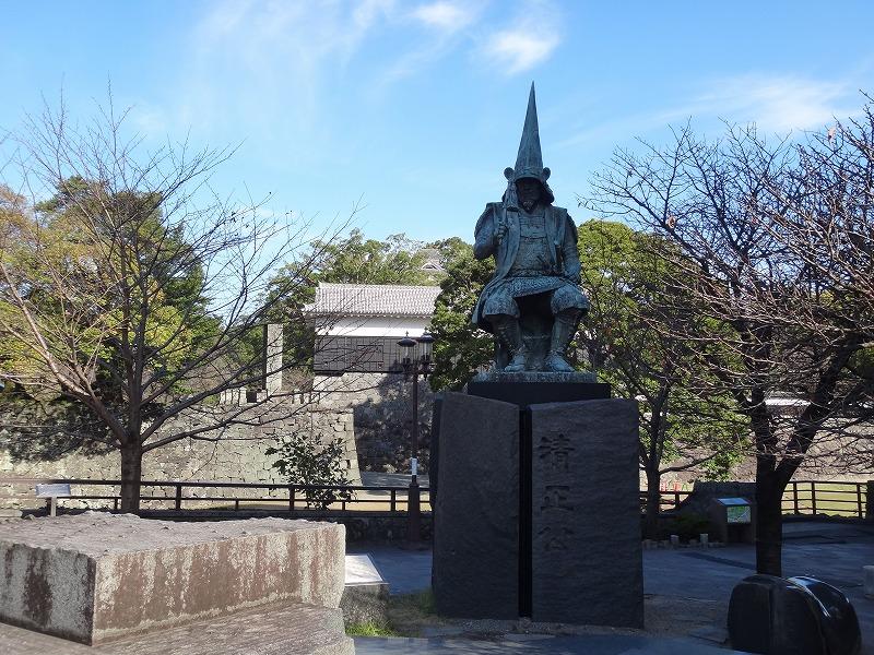 【熊本城復興祈願】熊本城_加藤清正公銅像