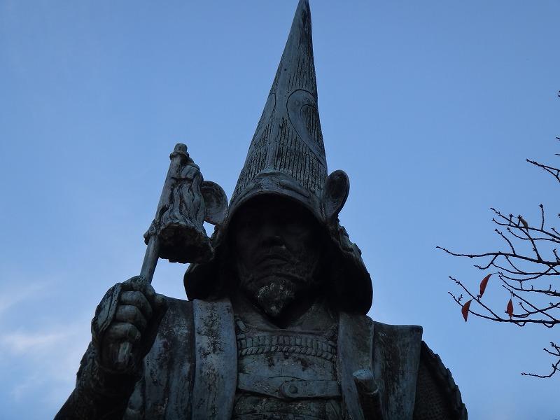 【熊本城復興祈願】熊本城_加藤清正公銅像アップ