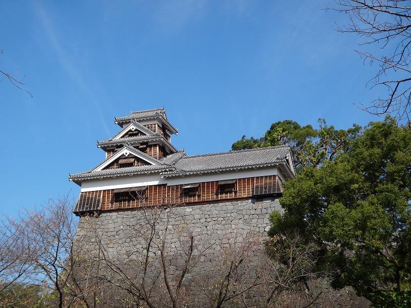 【熊本城復興祈願】熊本城_入り口から見える櫓
