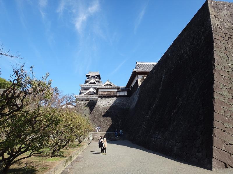 【熊本城復興祈願】熊本城_石垣と天守閣