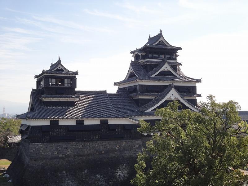 【熊本城復興祈願】熊本城_宇土櫓から見た天守閣2