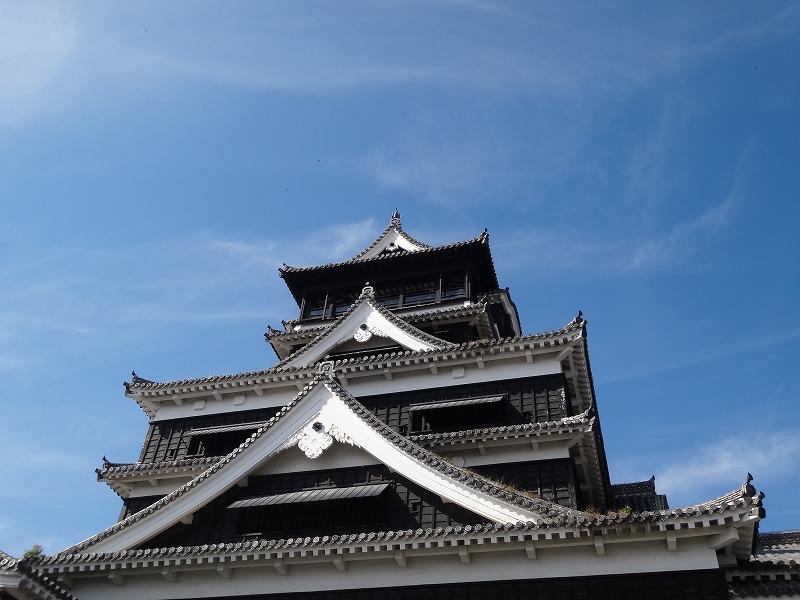 【熊本城復興祈願】熊本城_天守閣正面上部