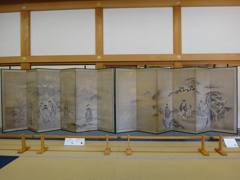 【熊本城復興祈願】熊本城_天守閣の中にあった水墨画