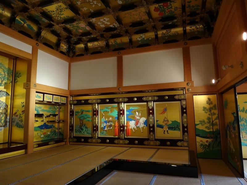 【熊本城復興祈願】熊本城_天守閣昭君之間の壁装飾