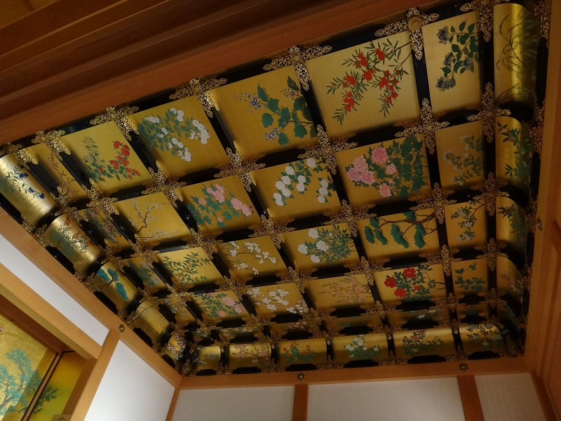 【熊本城復興祈願】熊本城_天守閣昭君之間の天井装飾