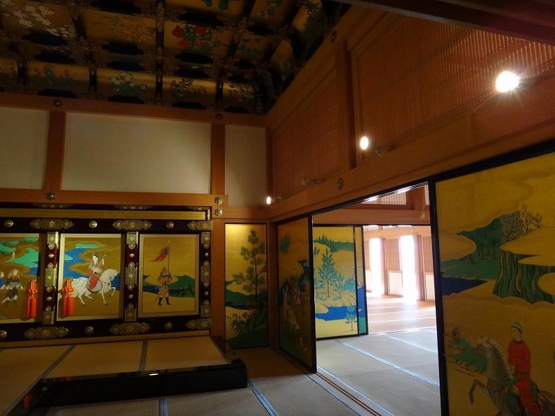 【熊本城復興祈願】熊本城_天守閣昭君之間の壁装飾3