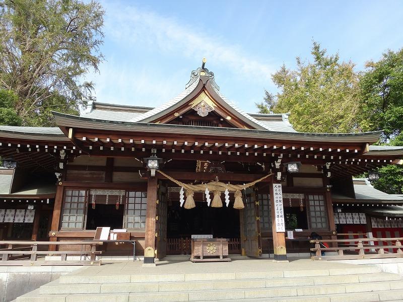 熊本水前寺公園近くの出水神社参拝所
