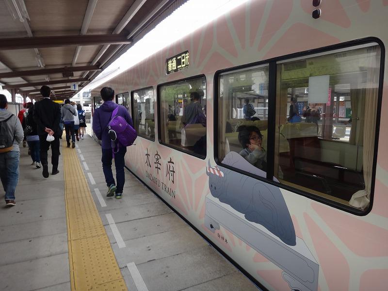 太宰府駅の電車