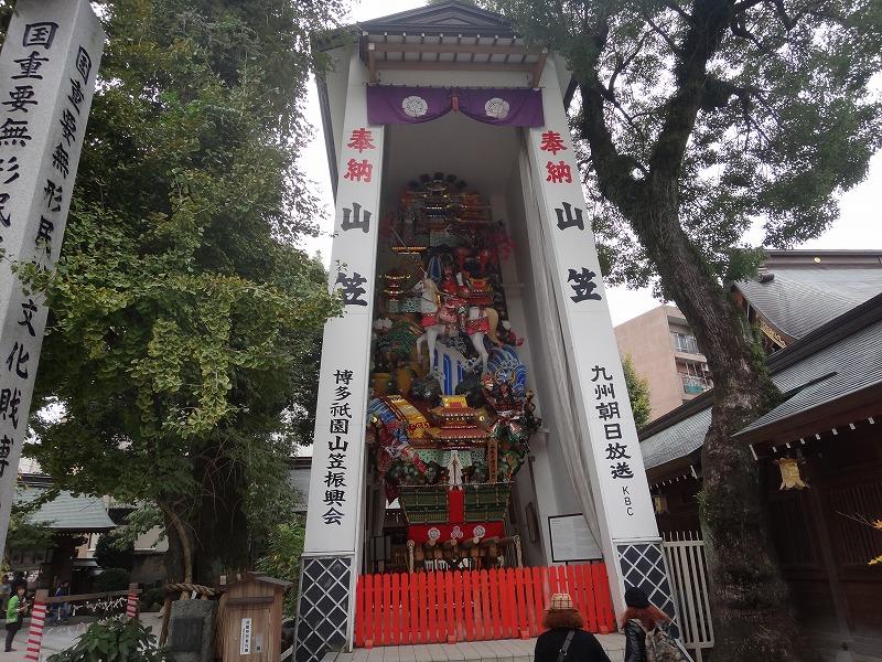 博多の総鎮守櫛田神社_奉納されている博多祇園山笠