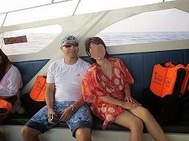 シミラン諸島ツアー|アイランドホッピングとシュノーケル船中にて