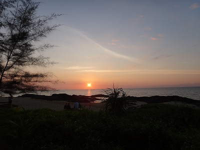 センシマーカオラック ゴールデンサイズビーチ_サンセット1