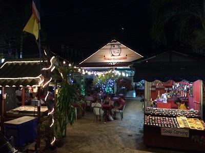カオラックでおいしいタイ料理レストラン2.SOMSRI Restaurant_外観