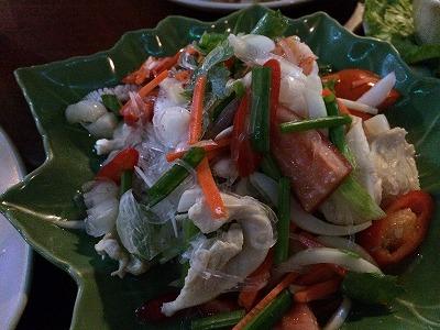 カオラックでおいしいタイ料理レストラン2.SOMSRI Restaurant_ヤム・ウン・セン
