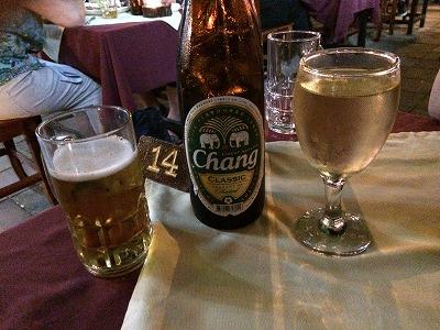 カオラックでおいしいタイ料理レストラン1.サラタイレストラン翌日リピート_チャンビール