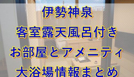 伊勢神泉の客室露天風呂付きに泊まってみた|お部屋とアメニティ情報まとめ