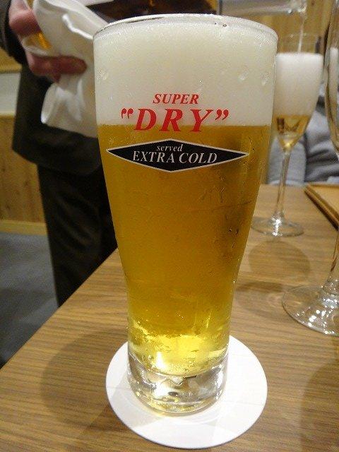 伊勢外宮参道 伊勢神泉 お食事処 日本料理 伊せ吟 夕食_まずはビール