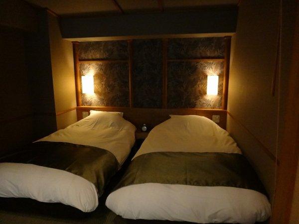 カムイの湯ラビスタ阿寒川森側の部屋_ベッドスペース
