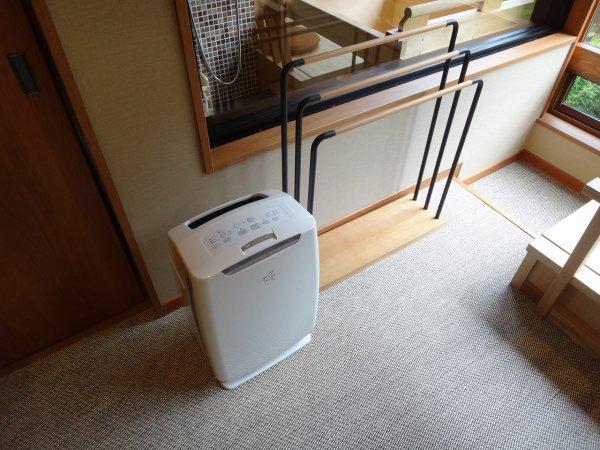 カムイの湯ラビスタ阿寒川森側の部屋_空気清浄機とバスタオルハンガー