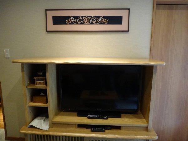 カムイの湯ラビスタ阿寒川森側の部屋_TVボード