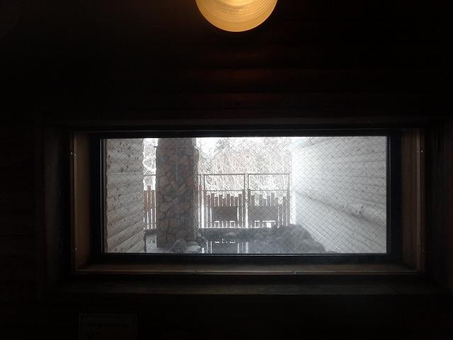 ラビスタ大雪山大浴場男湯_サウナからの外の景色