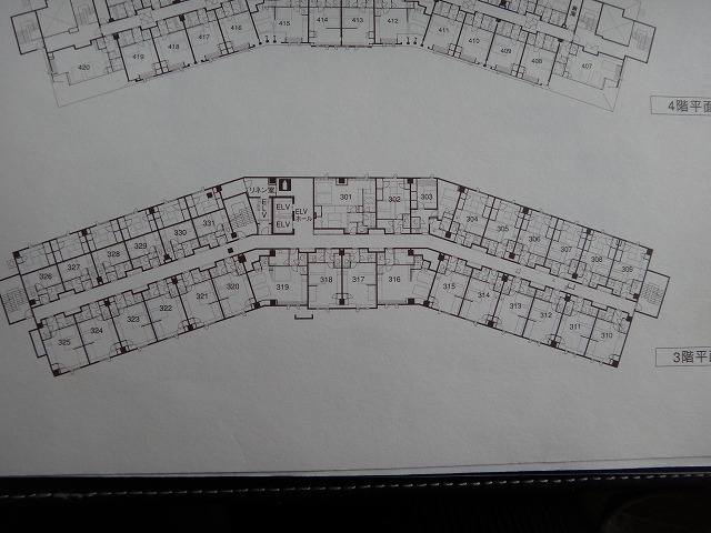 ラビスタ大雪山の3階平面図