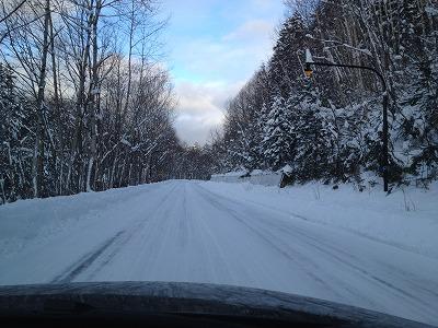 11月下旬のラビスタ大雪山_道中の雪景色