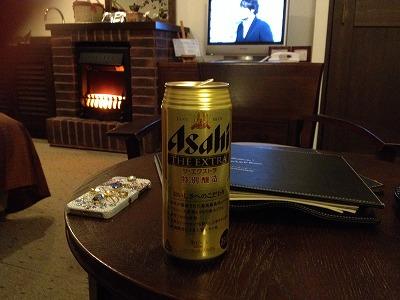 ラビスタ大雪山お部屋でビール