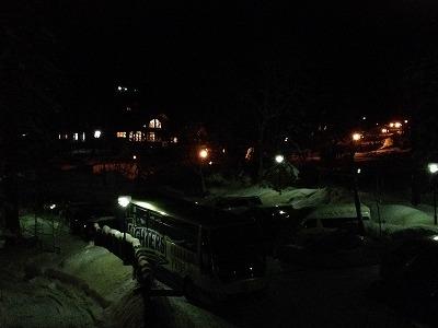 ラビスタ大雪山_夕食時の外の景色
