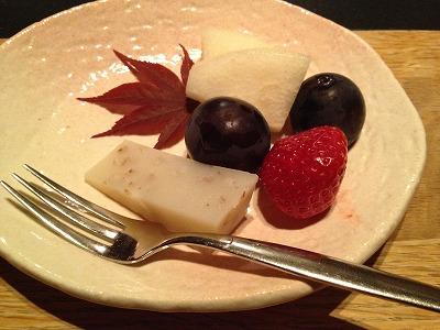 ラビスタ大雪山夕食レストランヌプリ狩人焼コース_水菓子