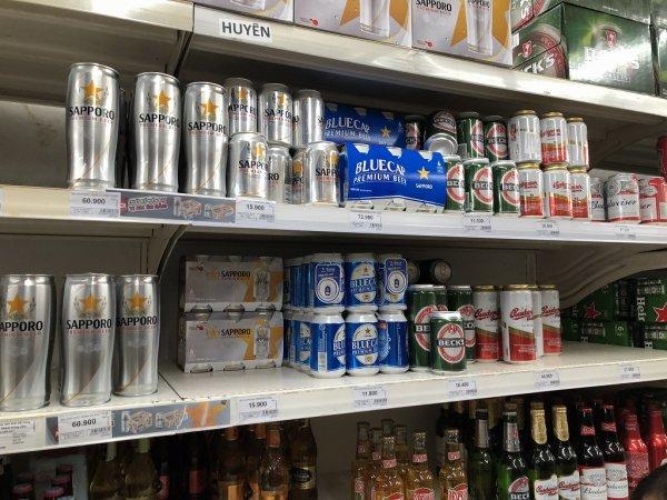 ダナンのスーパービッグC(BigC)_SAPPOROビール価格