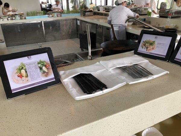 フュージョンマイアダナン朝食ブッフェ_麺コーナーのiPadメニュー