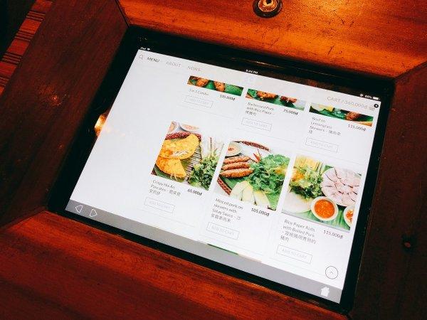 ホイアンのレストランおすすめVy's Market Restaurant_iPadメニュー画面1