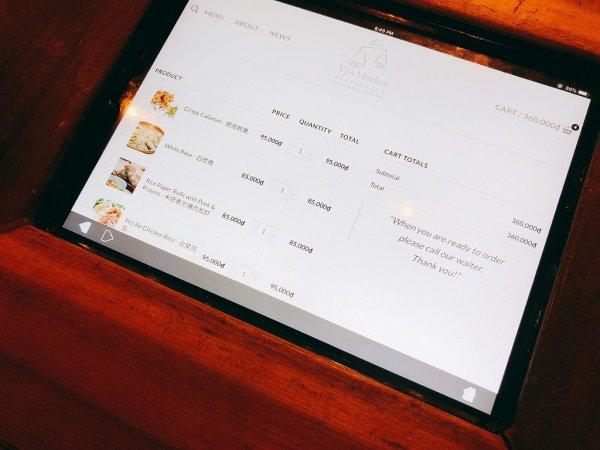 ホイアンのレストランおすすめVy's Market Restaurant_iPadメニュー画面2