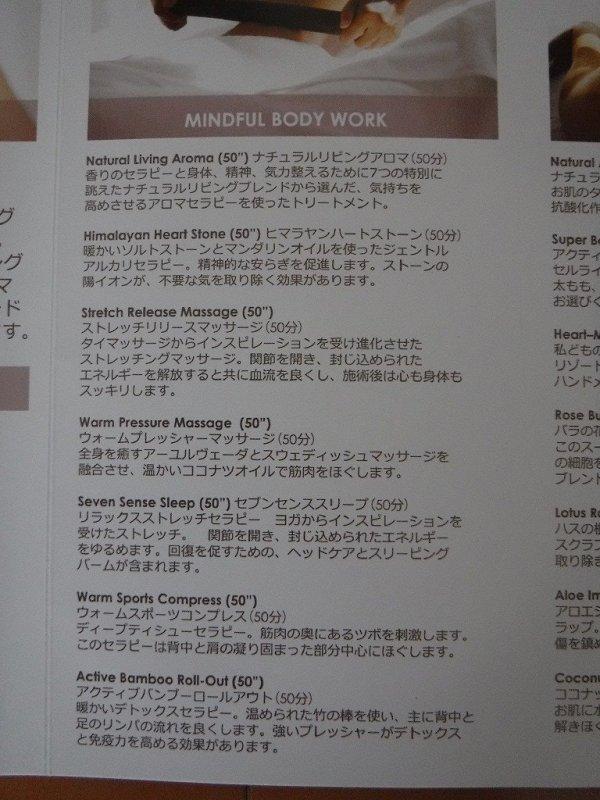 フュージョンマイアダナンスパメニュー日本語Ver.MAINFUL BODY WORK