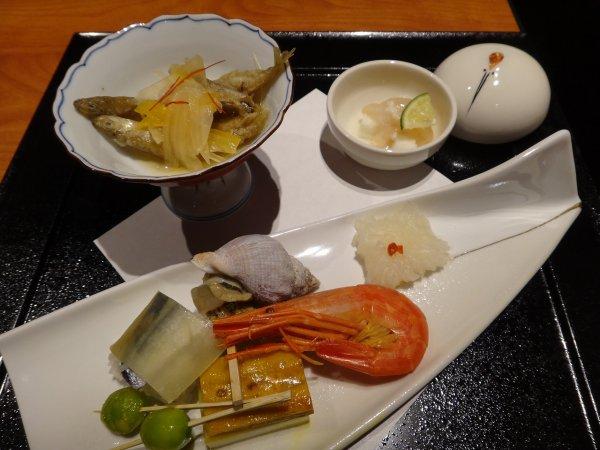 カムイの湯ラビスタ阿寒川レストラン「ワッカピリカ」の夕食_前菜