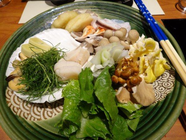 カムイの湯ラビスタ阿寒川レストラン「ワッカピリカ」の夕食_コタン鍋具材