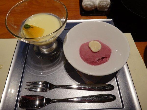 カムイの湯ラビスタ阿寒川レストラン「ワッカピリカ」の夕食_水菓子と甘味