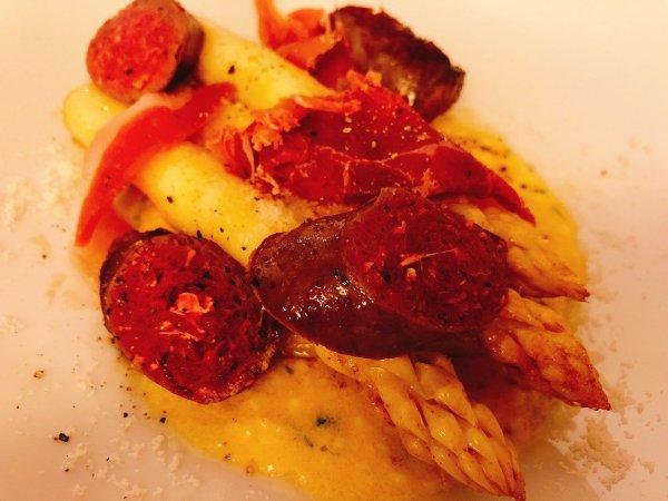 札幌イタリアンリッチRICCI cucinaITALIANA1回め実食_二皿目 北海道産白いアスパラガスのソテーアップ