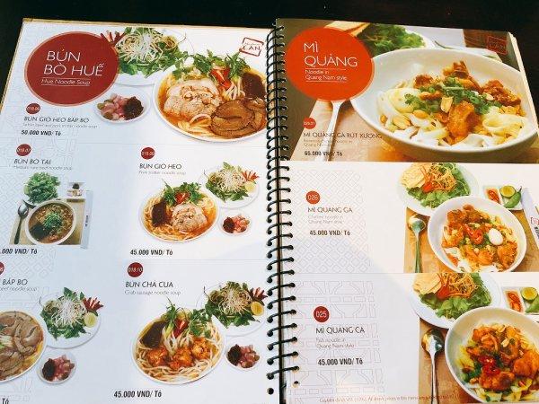 ベトナム・ダナンの高級レストラン マダム・ランMadame Lan_お料理メニュー1