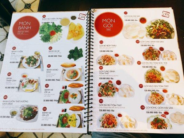 ベトナム・ダナンの高級レストラン マダム・ランMadame Lan_お料理メニュー3