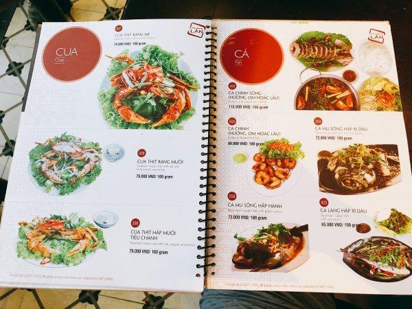 ベトナム・ダナンの高級レストラン マダム・ランMadame Lan_お料理メニュー5