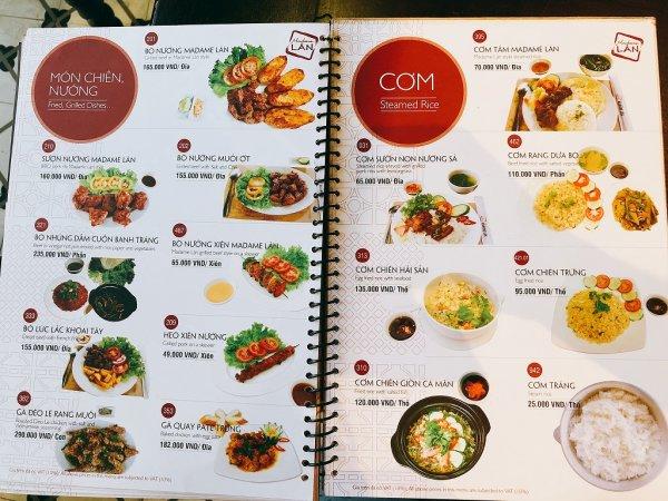 ベトナム・ダナンの高級レストラン マダム・ランMadame Lan_お料理メニュー9