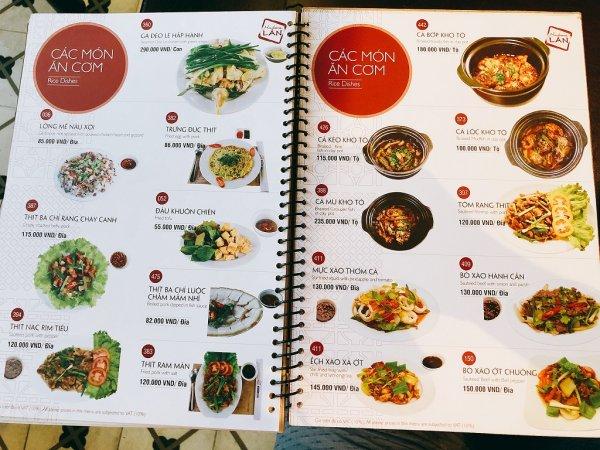 ベトナム・ダナンの高級レストラン マダム・ランMadame Lan_お料理メニュー10