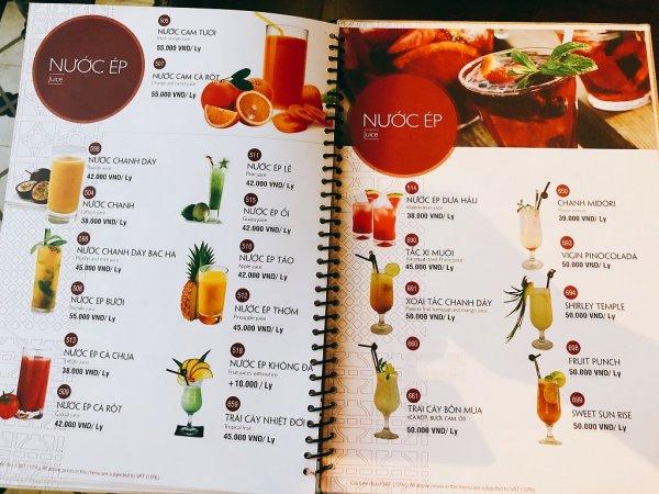 ベトナム・ダナンの高級レストラン マダム・ランMadame Lan_ドリンクメニュー2