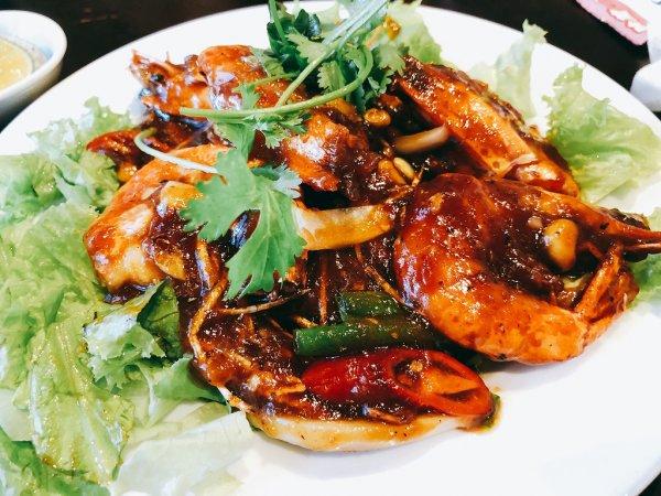 ベトナム・ダナンの高級レストラン マダム・ランMadame Lanお料理実食_エビのタマリンドソース炒め
