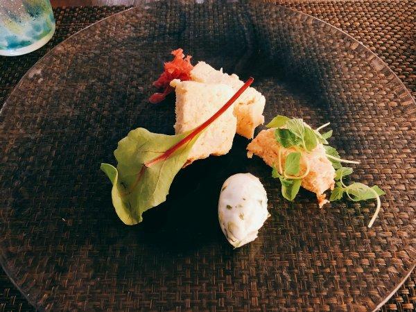 札幌イタリアンリッチRICCI cucinaITALIANAリピート2回めイザ実食_二皿目 オホーツク産花咲ガニとホタテのテリーヌ