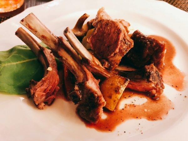札幌イタリアンリッチRICCI cucinaITALIANAリピート2回めイザ実食_メイン料理 骨付子羊のオーブン焼き