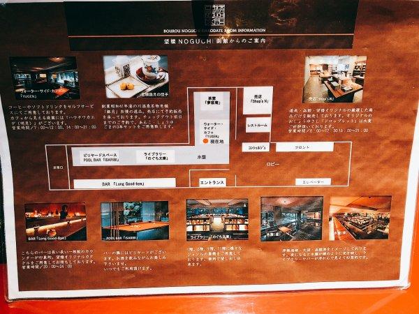 湯の川温泉望楼NOGUCHI函館_ロビー見取り図